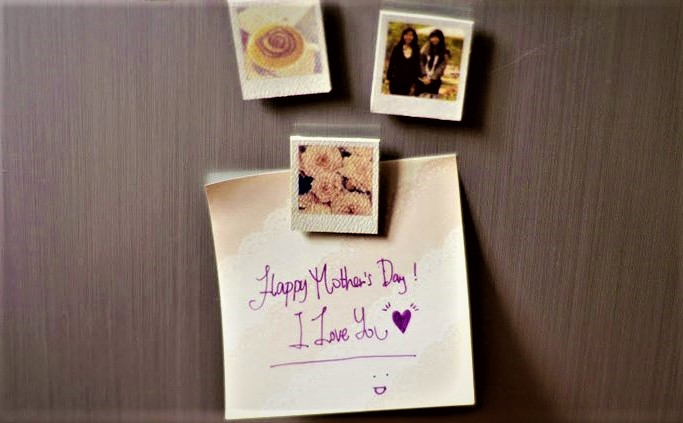 polaroid magnets mother's day activities for toddlers