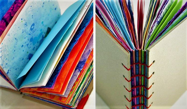recycled art notebook
