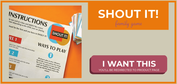 shout it product banner good friday game