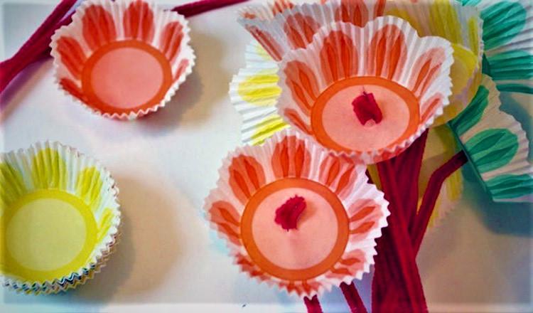 spring cupcake flowers