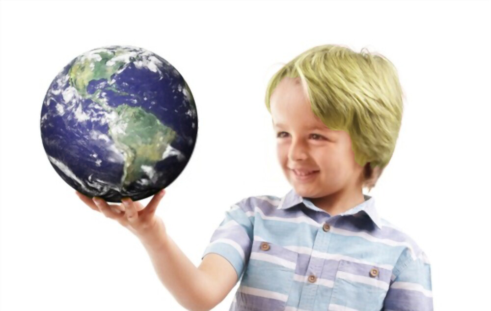 student hold the earth day