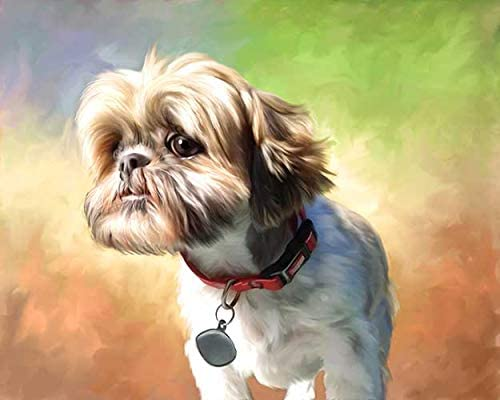 Custom Portrait Dog Painting - Oil Painting (Individual) Hand Painted Portrait Painting