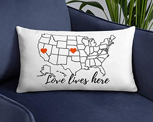 Customized Long Distance Family Relationship Pillow