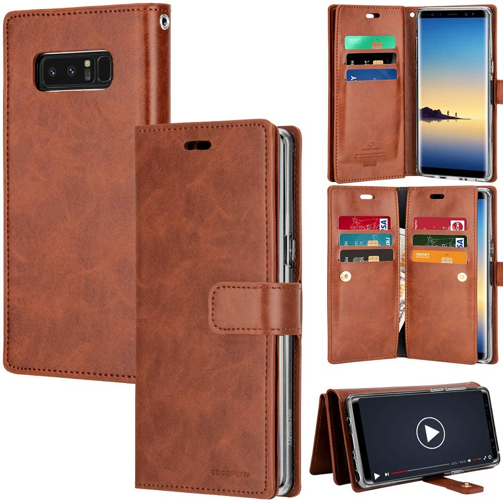 Leather Wallet Case Double Sided Card Holder