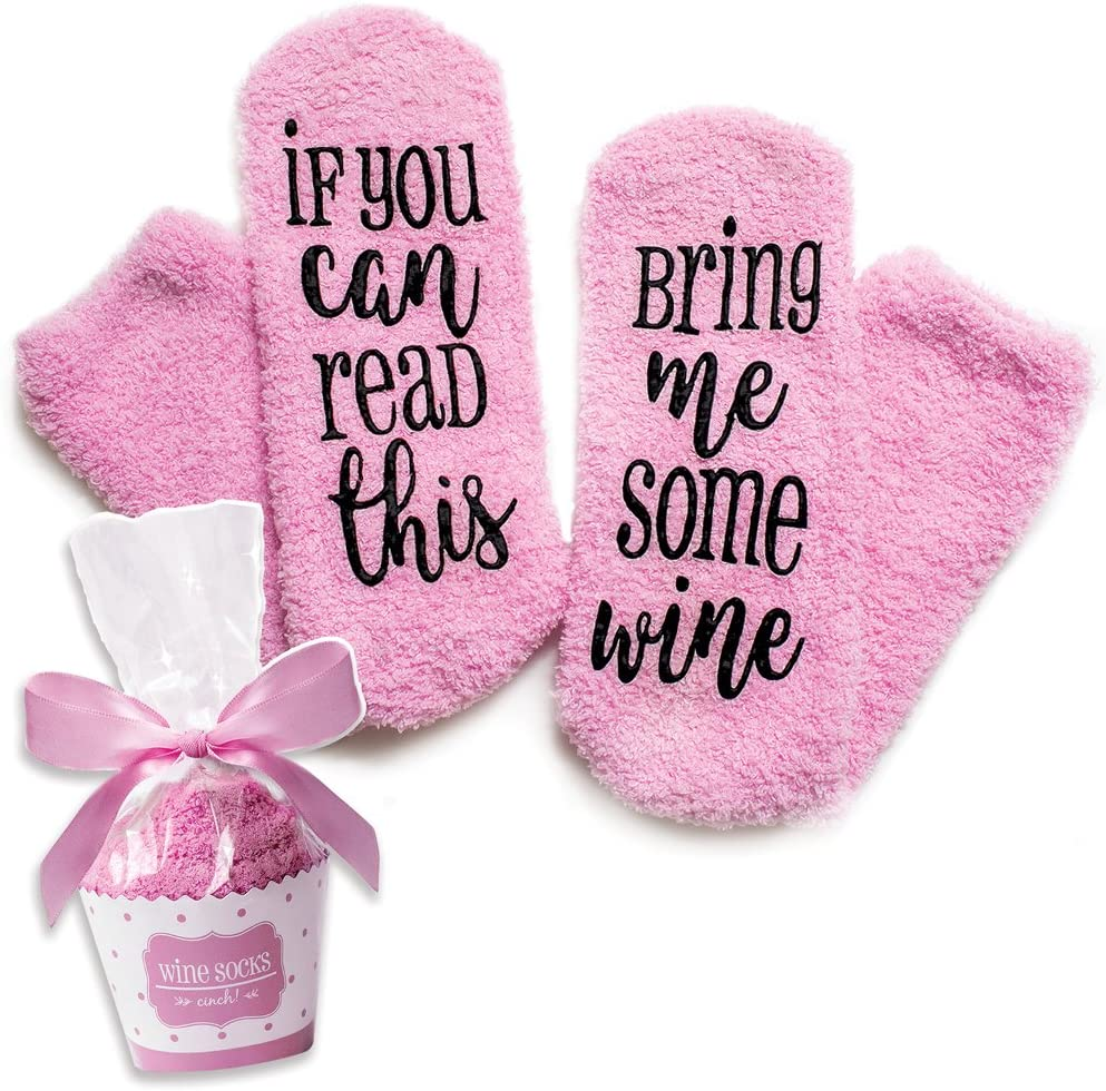 Luxury Wine Socks with Cupcake Gift