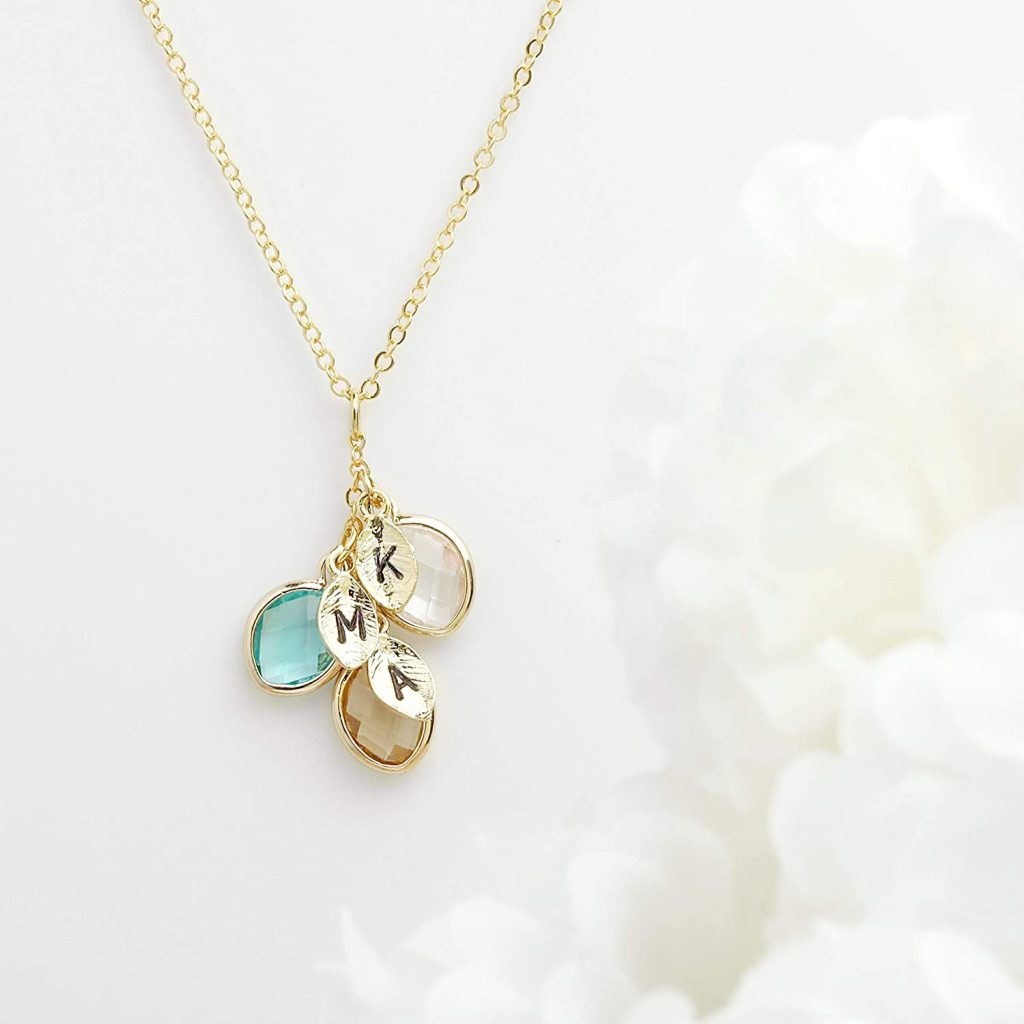Mothers day Gift Personalized Gift for Women Grandma Gifts Birthstone Necklace best mothers day gift 2021
