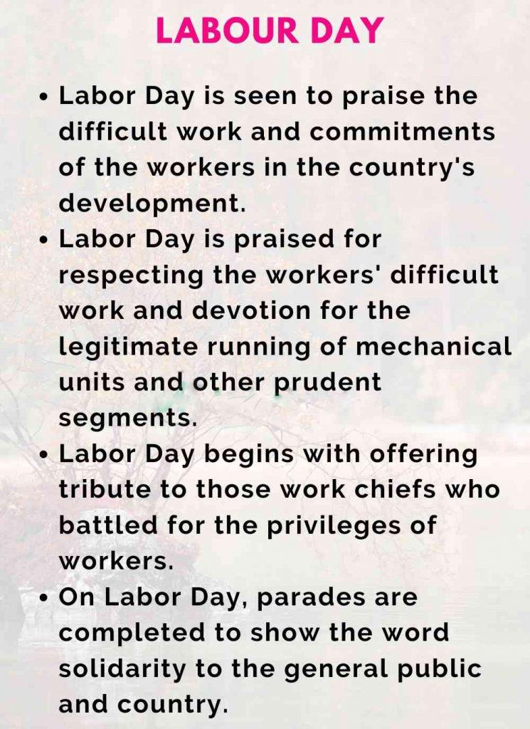 Speech on Labor Day