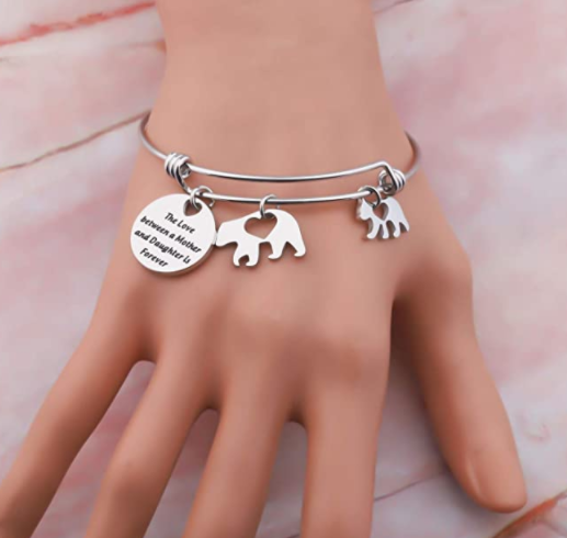 The Love Between A Mother And Daughter Is Forever Mama Bear Jewelry Gift For Mother