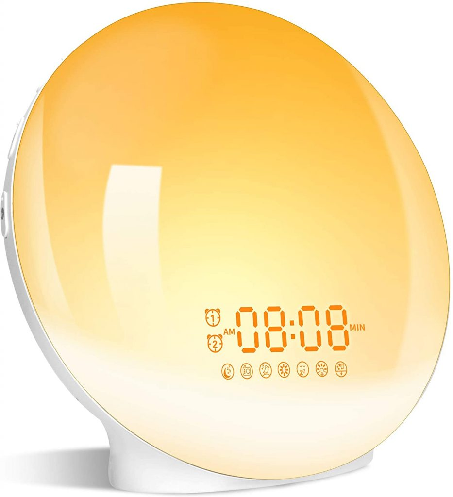 Wake Up Light Sunrise Alarm Clock mothers day best gift 2021