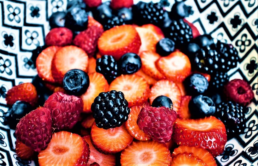 labour day party in summer with fresh fruit