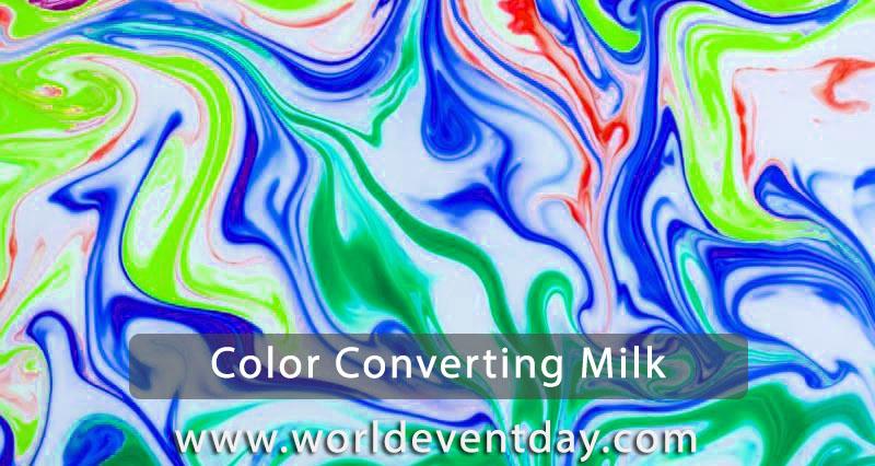 Colour changing milk