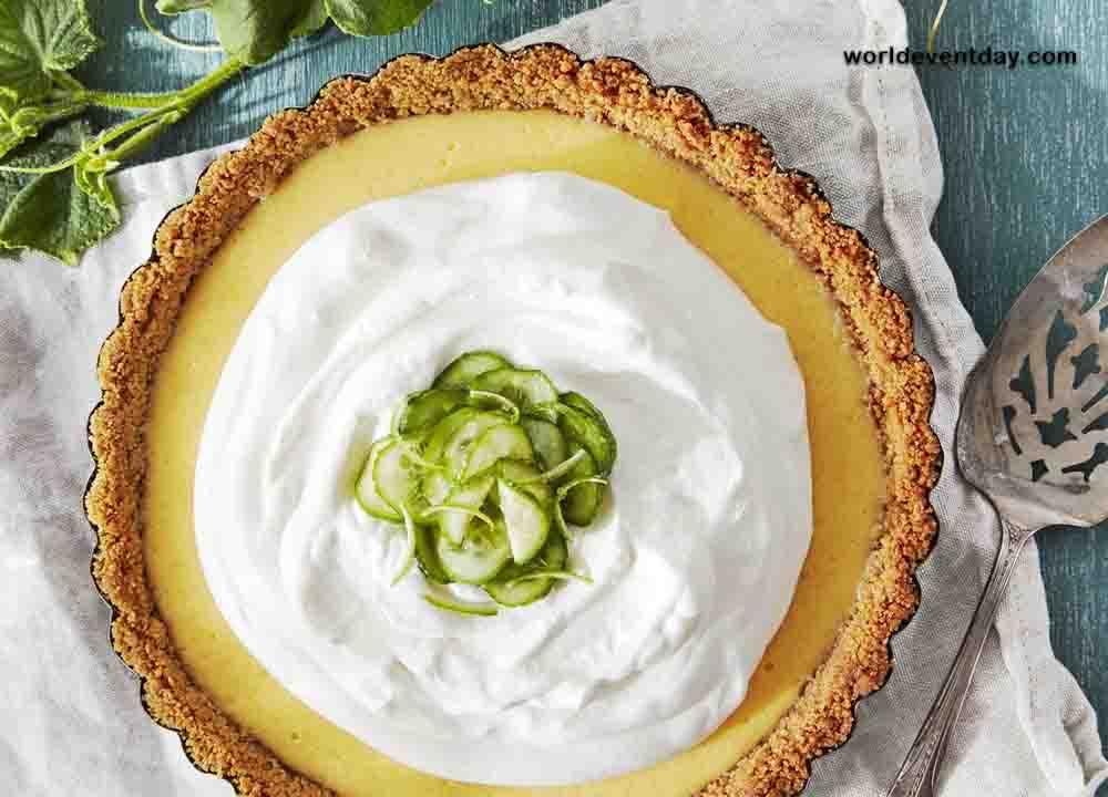 Cucumber-Key Lime Pie dessert