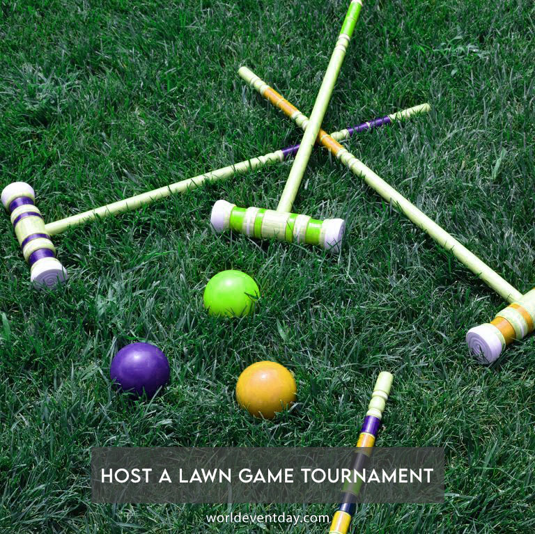 Host a lawn game tournament