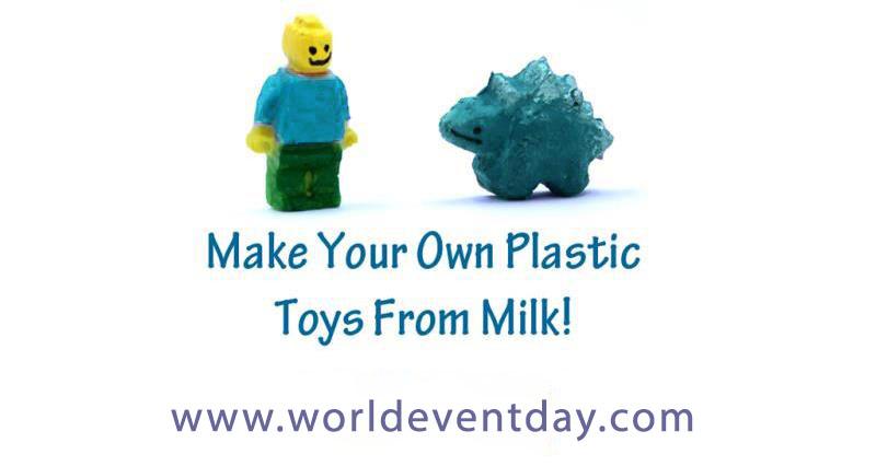 Make plastic from milk
