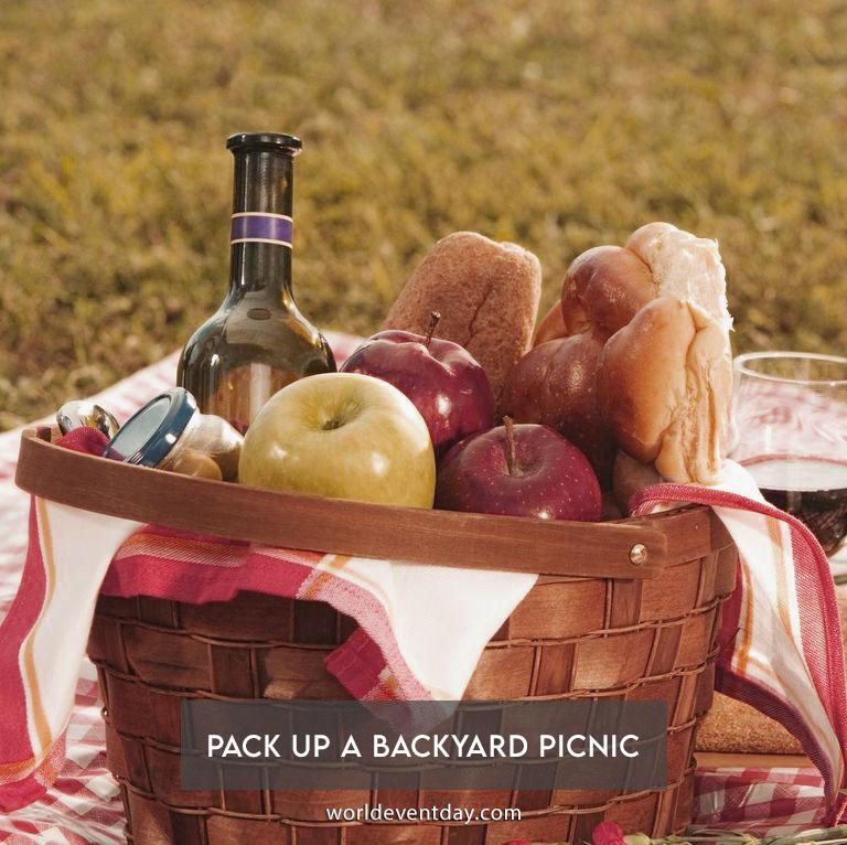 Pack up a backyard picnic