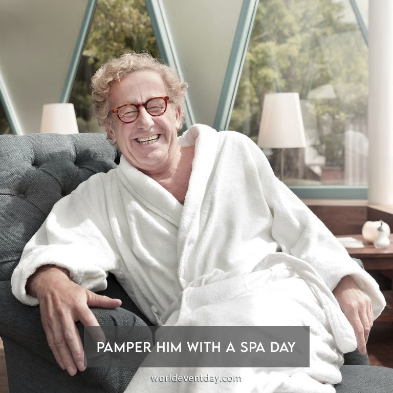 Pamper him with a spa day