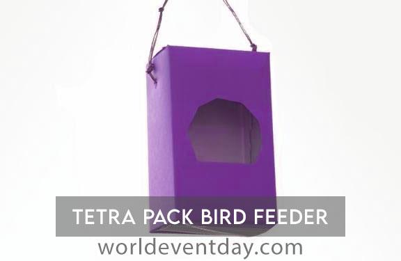 Tetra pack bird feeder world environment day activities