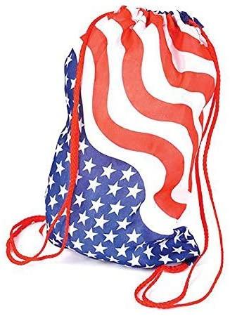 USA Flag Drawstring Bags memorial day gifts