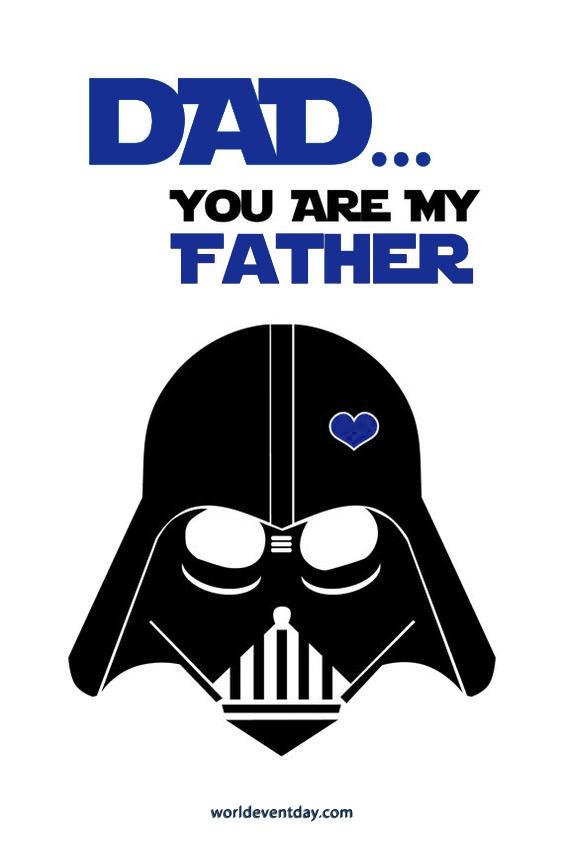 A Simple Star Wars Fact joke in meme on fathers day