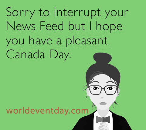 Canada Day Funny Memes girl