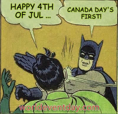 Canada Day meme first july