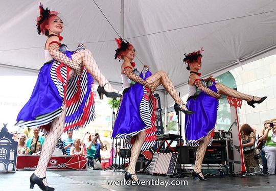 Cancan dancing