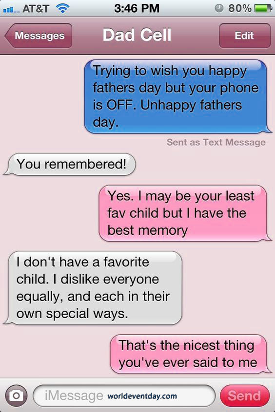 Dad Doesn't Play Favorites fathers day meme