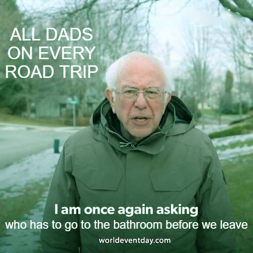 Hitting the Road father day memes