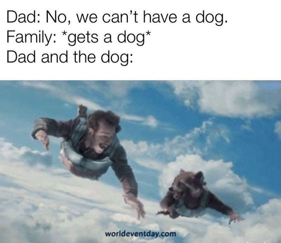 One For the Dog Dads fathers day meme