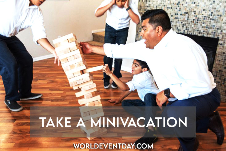 Take a minivacation father's day activities ideas