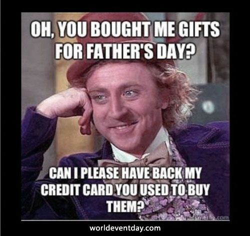 Willy Wonka's Wallet fathers day memes