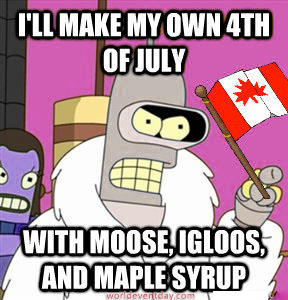 canada day vs the of july