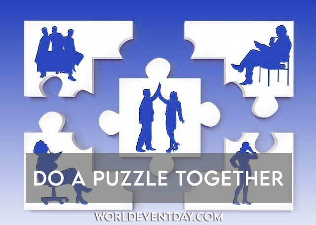 puzzle solving father's day activities ideas