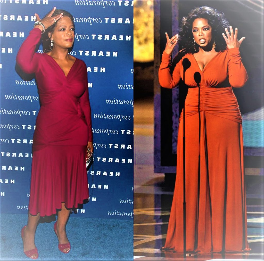 how much weight has oprah lost on ww images