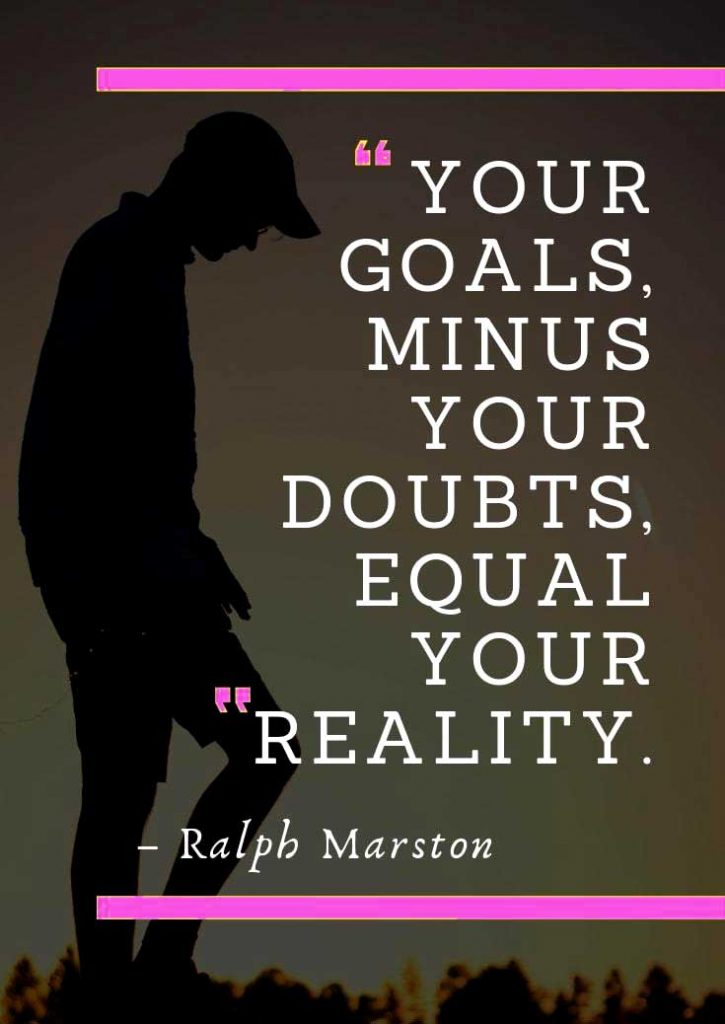 goals minus doubts weight loss quotes